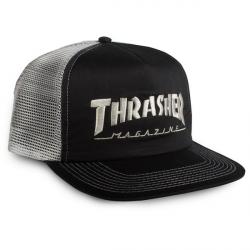 CASQUETTE THRASHER CAP MESH LOGO - BLACK GREY