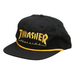 CASQUETTE THRASHER CAP ROPE LOGO - BLACK YELLOW