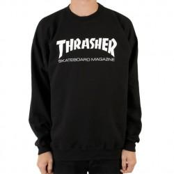 SWEAT THRASHER CREW SKATE MAG - BLACK