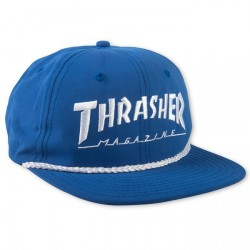 CASQUETTE THRASHER CAP ROPE LOGO - BLUE WHITE
