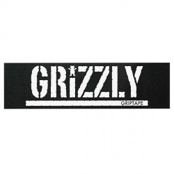GRIP GRIZZLY PLAQUE OVERSIZED STAMP WHITE