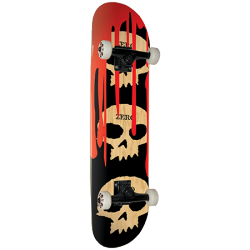 SKATEBOARD COMPLET ZERO 7.875 SKULL WITH BLOOD
