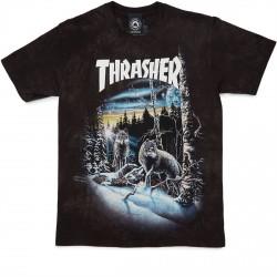 T-SHIRT THRASHER 13 WOLVES - BLACK/TIE-DYE