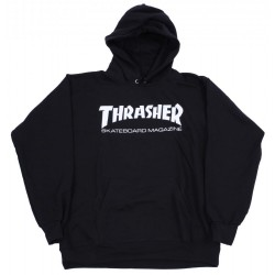 THRASHER SWEAT HOOD SKATE MAG - BLACK