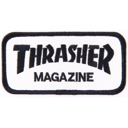 PATCH THRASHER MAG LOGO - BLACK WHITE