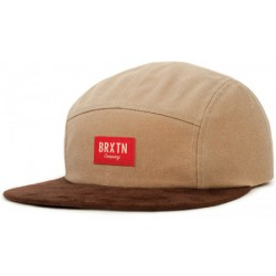 BRIXTON HOOVER 5 PANEL- TAN BROWN
