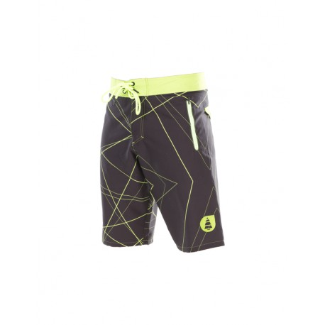 PICTURE ORGANIC BOARDSHORT REDWOOD BLACK/GREEN/LASER