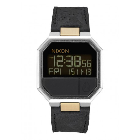 MONTRE NIXON RE RUN LEATHER - BLACK BRASS