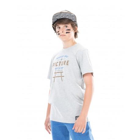 PICTURE ORGANIC T SHIRT PROUD KIDS GREY