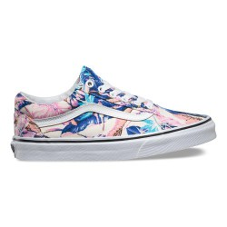 VANS SHOES OLD SKOOL TROPICAL MULTI TRUE WHITE