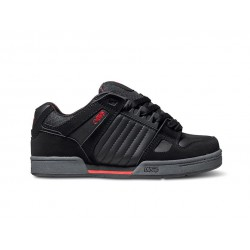 DVS CELSIUS - BLACK GREY RED NUBUCK