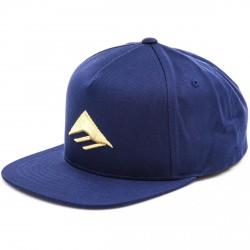 EMERICA TRIANGLE SNAPBACK CAP - NAVY GOLD