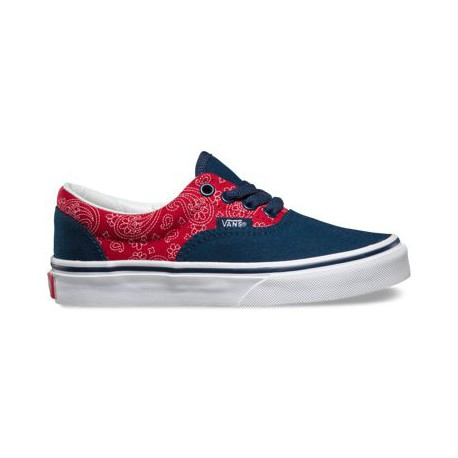 SHOES VANS KIDS ERA - BANDANA CHILI BLUE
