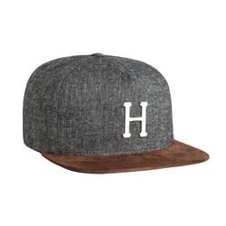 HUF CAP METAL H STRAPBACK BLACK