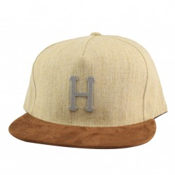 HUF CAP METAL H STRAPBACK TAN