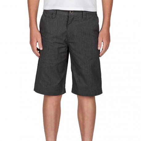SHORT VOLCOM FRICKIN CHINO KID - CHARCOAL HEATHER
