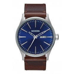 MONTRE NIXON SENTRY LEATHER - BLUE/BROWN
