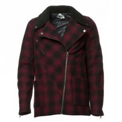 VOLCOM BRAWL WOOL MIX BIKER BLACK