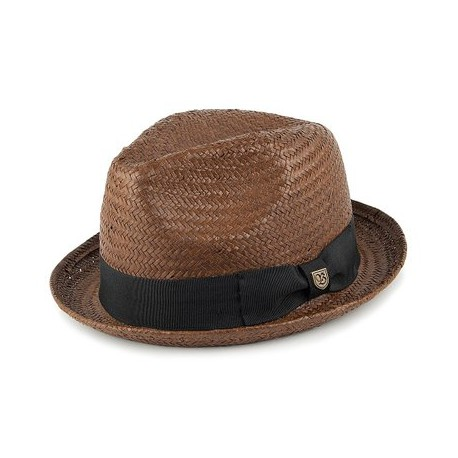CHAPEAU BRIXTON CASTOR FEDORA - LIGHT BROWN