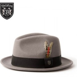 CHAPEAU BRIXTON GAIN FEDORA - LIGHT GREY
