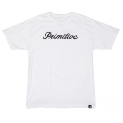 T-SHIRT PRIMITIVE SIGNATURE SCRIPT WHITE
