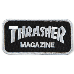 PATCH THRASHER MAG LOGO - GREY BLACK