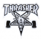 PATCH THRASHER SKATE GOAT LOGO - BLACK WHITE