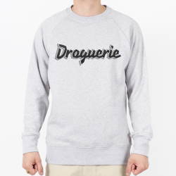 SWEAT QHUIT CREW DROGUERIE GRIS CHINE
