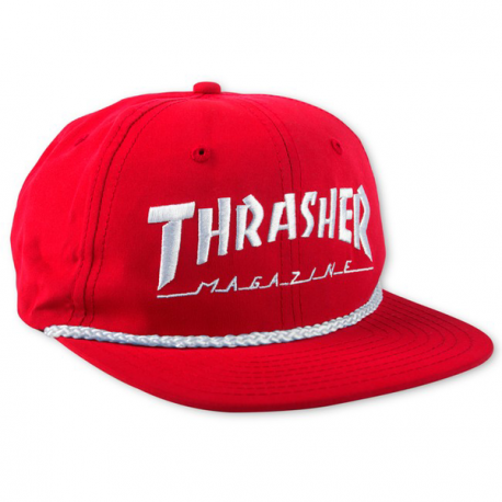 CASQUETTE THRASHER CAP ROPE LOGO - RED WHITE