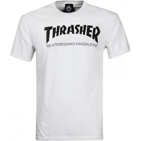 T-SHIRT THRASHER SKATE MAG - WHITE