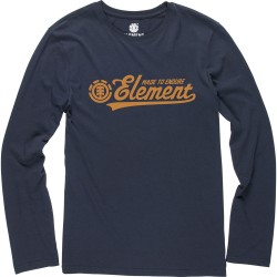T-SHIRT ELEMENT SIGNATURE LS KIDS ECLIPS NAVY