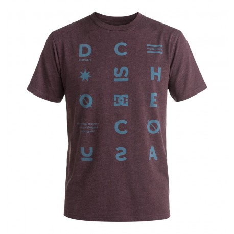 TSHIRT DC SHOES AVALEON - HEATHER WINETASTING