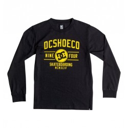 TSHIRT MANCHES LONGUES DC SHOES RECOVER BOY - BLACK