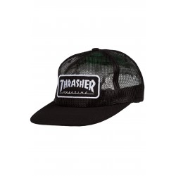 CASQUETTE THRASHER CAP LOGO MESH - BLACK/WHITE