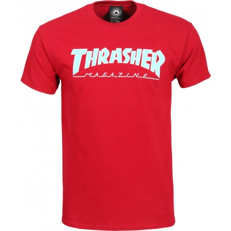 T-SHIRT THRASHER OUTLINED - CARDINAL RED