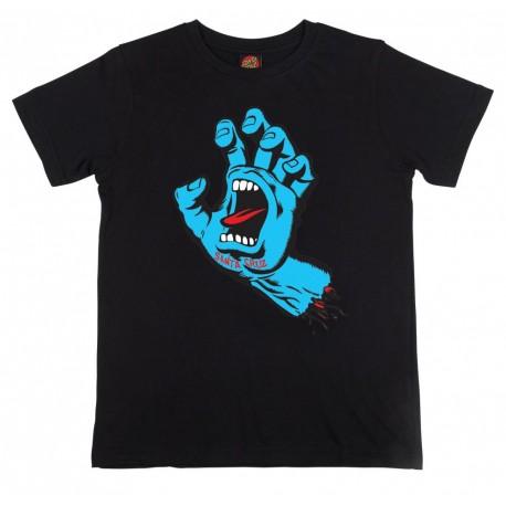 T-SHIRT SANTA CRUZ YOUTH SCREAMING HAND - BLACK