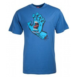 T-SHIRT SANTA SCREAMING HAND - FEDERAL BLUE