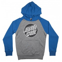SWEAT SANTA CRUZ YOUTH HOODIE DOT - FEDERAL BLUE / DARK HEATHER
