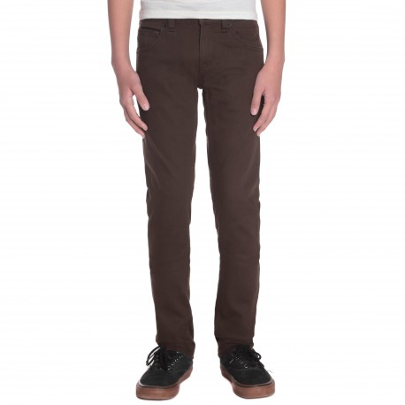 PANTALON VOLCOM 2X4 5 POCKET TWILL - DARK CHOCOLATE