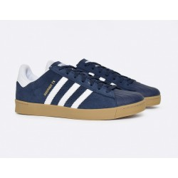 CHAUSSURE ADIDAS SUPERSTAR VULC ADV - BLUE / GUM