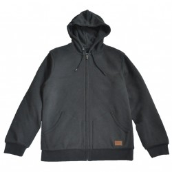 HOODIE BRIXTON ZIP BILLINGS - WASHED BLACK