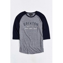 T-SHIRT BRIXTON HAROLD 3/4 - HEATHER GREY/NAVY