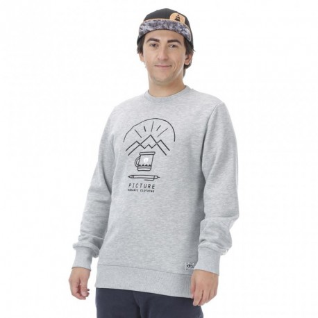SWEAT PICTURE UPPER - GREY MELANGE