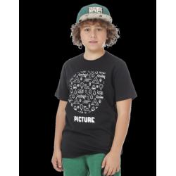 TEE SHIRT PICTURE WOODLAND KIDS - BLACK