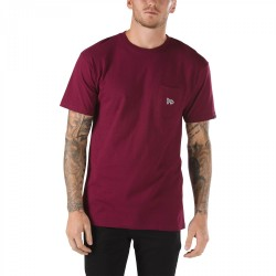 T-SHIRT VANS CHIMA POCKET TEE - BURGUNDY