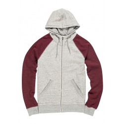 SWEAT ELEMENT MERIDIAN ZIP HOOD UPG - GRIS CHINE