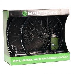 SET DE ROUES SALT VALLON & CHAINSET BLACK (ROUES+ COURONNE+ PEGS+ CHAINE)