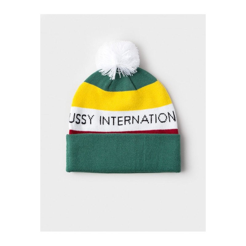 Bonnet STUSSY INTERNATIONAL POM BEANIE