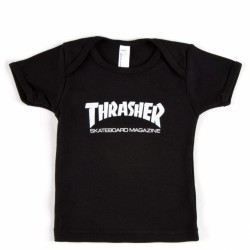 T-SHIRT THRASHER SKATE MAG INFANT 12-18 MOIS - BLACK