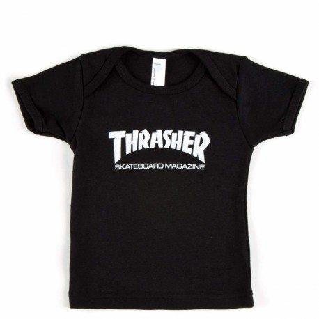 T-SHIRT THRASHER SKATE MAG INFANT 12-18 MOIS - BLACK
